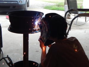 OH! Kody learned how to weld and he was perfect at it!